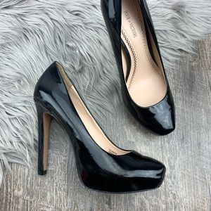 POUR la VICTOIRE Black Patent Leather Heels